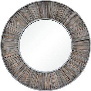 Miroir décoratif gris foncé Mack de Notre Dame design, 45 po x 45 po, gris foncé