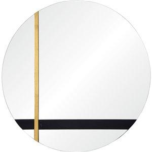 Miroir décoratif rond Harmer de Notre Dame design, 30 po x 30 po
