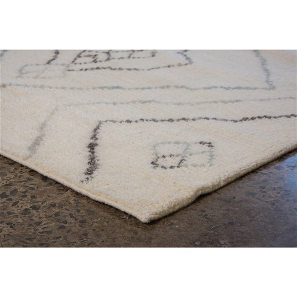 Notre Dame Design Dartmouth Area Rug, 10-ft x 8-ft - Off-white