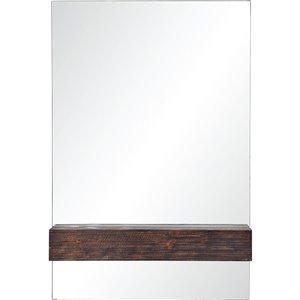 Miroir décoratif brun foncé Kai de Notre Dame design, 36 po x 24 po, brun foncé