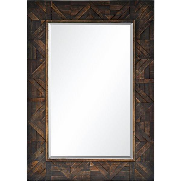 Notre Dame Design Maddy Decorative Mirror - 30-in x 42-in - Dark Wood
