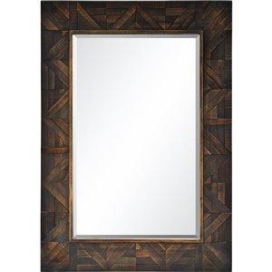 Miroir décoratif Maddy de Notre Dame design, 42 po x 30 po, brun foncé