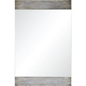 Notre Dame Design Carlingwood Decorative Mirror - 24-in x 36-in - Off-white