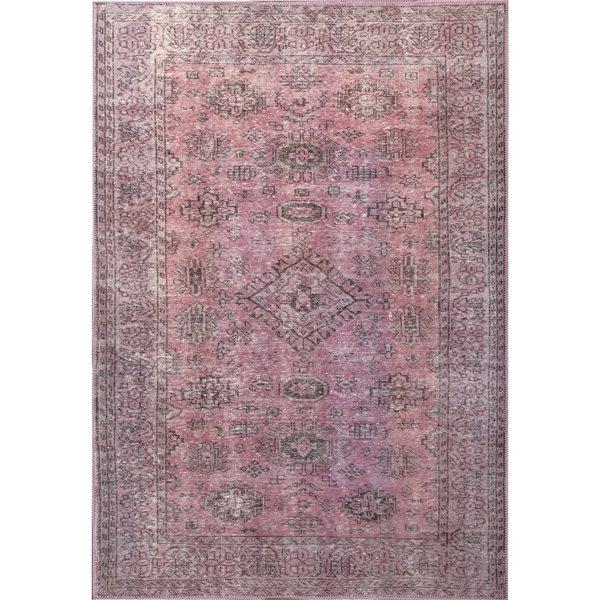 Tapis décoratif Dante de Notre Dame Design, 10 pi x 8 pi, rouge