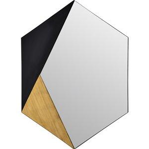 Miroir décoratif hexagonal Cade de Notre Dame design, 40 po x 30 po