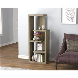 Safdie & Co. Bookcase - 47.25-in x 18-in - Dark Taupe