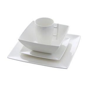 Safdie & Co. Dinnerware Set - Porcelain - White - 16 -Piece