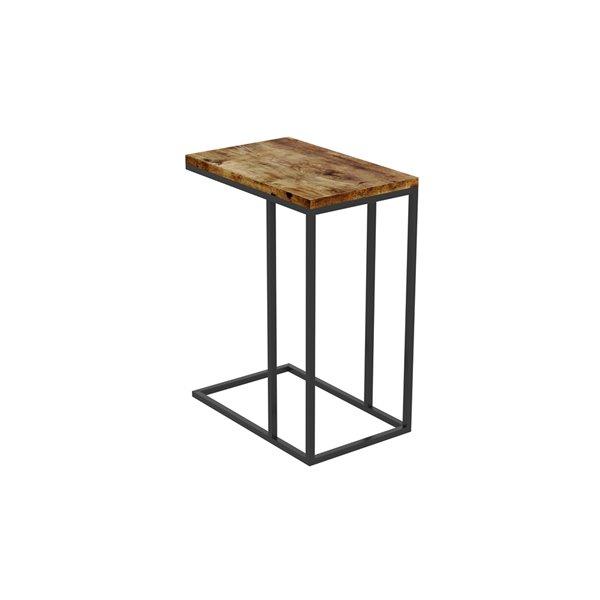 Safdie & Co. Accent Table - 20-in - Brown Reclaimed Wood/Black Metal