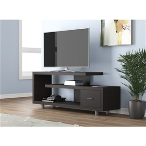 Meuble de télévision Safdie & Co., 1 tiroir, 60 po, cappuccino