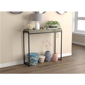 Table console Safdie & Co., 35 po, gris taupe foncé
