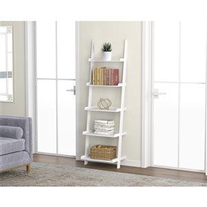 Safdie & Co. Bookcase - 70-in x 22 - White