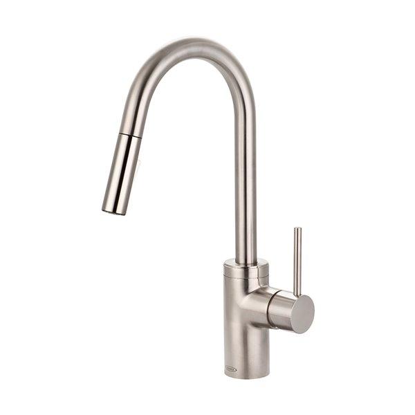 pioneer industries motegi single handle pull down kitchen faucet brushed nickel