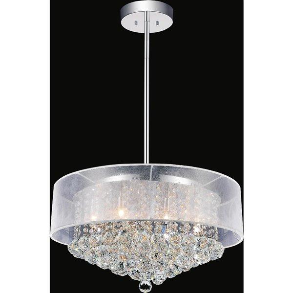 CWI Lighting Radiant Chandelier - 12-Light - 24-in x 13-in - Chrome/White