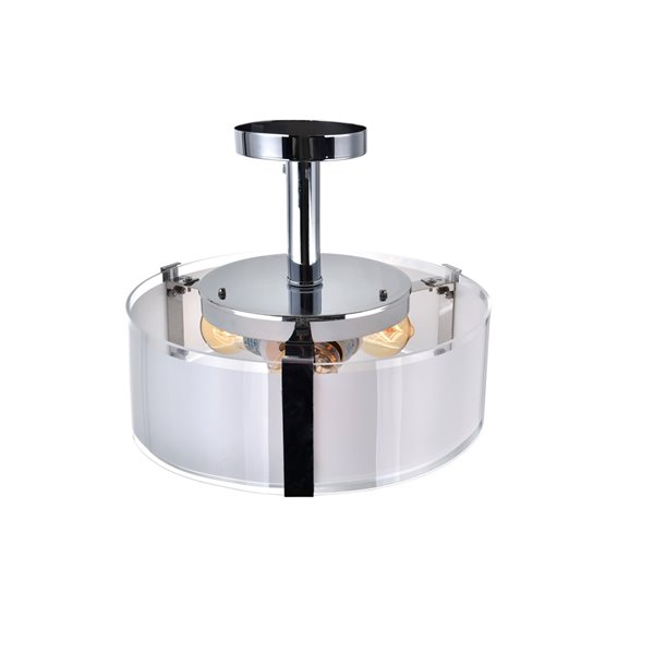 CWI Lighting Lucie Round Ceiling Light - 3-Light - 14-in - Chrome