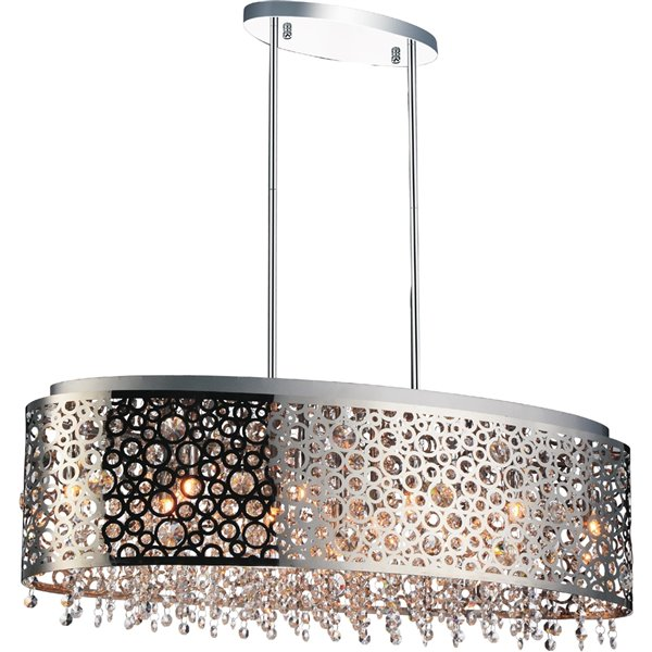 CWI Lighting Bubbles Chandelier - 11-Light - 10-in x 10-in - Chrome