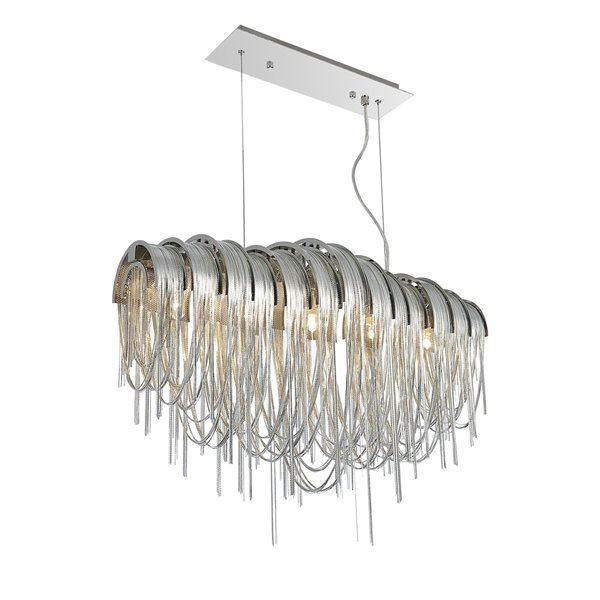 CWI Lighting Shirley Chandelier - 6-Light - 10-in x 16-in - Chrome