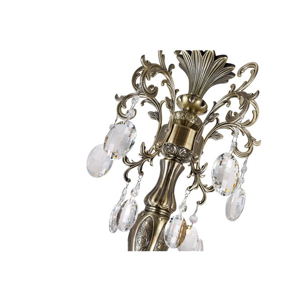 CWI Lighting Brass Chandelier - 8-Light - 30-in x 33-in - Antique Brass