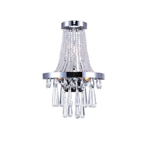 CWI Lighting Vast Bathroom Wall Sconce - 3-Light - Chrome