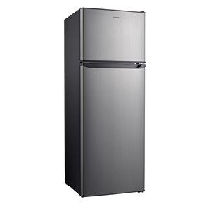 Réfrigérateur Galanz, congélateur supérieur, 12 pi³, 24 po, acier inoxydable