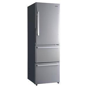 Réfrigérateur Galanz avec congélateur inférieur, 3 portes, 12,3 pi³, acier inoxydable