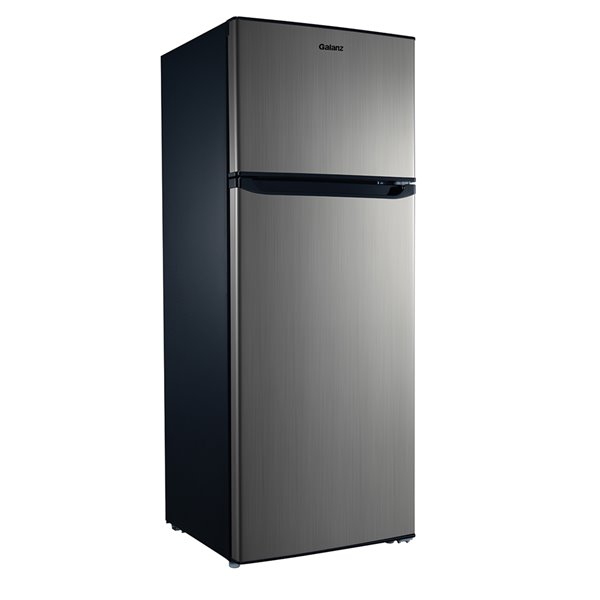 Galanz Top Freezer Refrigerator 7 6 Cu Ft 22 In Stainless Steel Glr76ts1e Rona