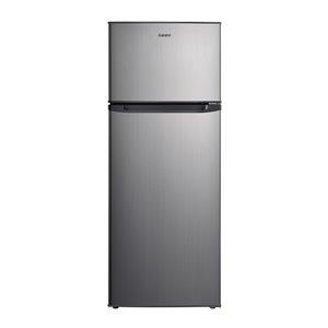Réfrigérateur Galanz, congélateur supérieur, 7,6 pi³, 22 po, acier inoxydable