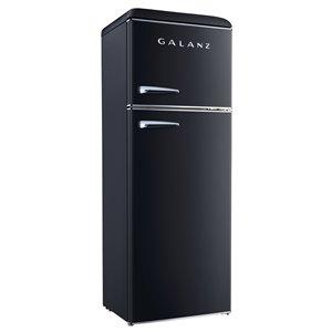 Réfrigérateur Galanz rétro, congélateur supérieur, 12 pi³, 24 po, noir