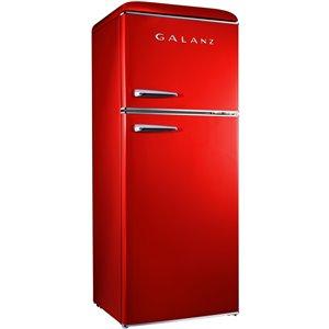 Réfrigérateur Galanz rétro, congélateur supérieur, 10 pi³, 24 po, rouge