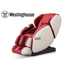 Westinghouse WES41-680 Massage Recliner - Faux Leather - Red/Beige