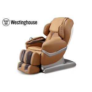 Westinghouse WES41-700S Massage Recliner - Faux Leather - Caramel/Beige