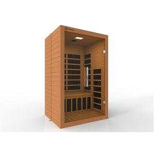 Sauna à infrarouge pour 2 personnes de Westinghouse, 46 po x 74,8 po, bois de pruche