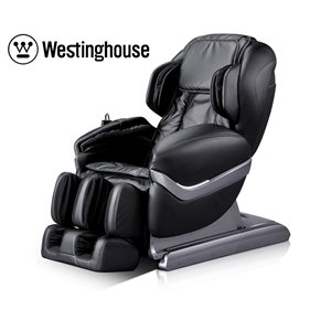 Westinghouse WES41-700S Massage Recliner - Faux Leather - Black