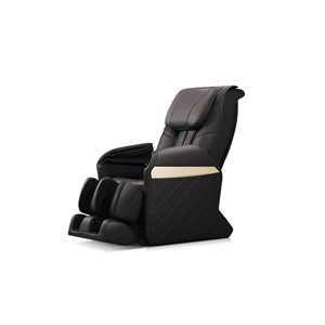 iComfort IC6600 Massage Recliner - Faux Leather - Black