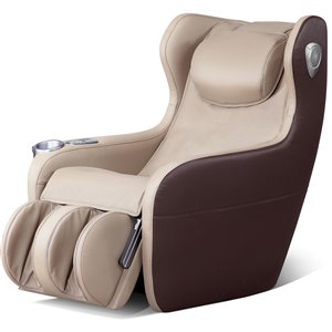 iComfort IC2000 Massage Recliner - Faux Leather - Beige/Brown