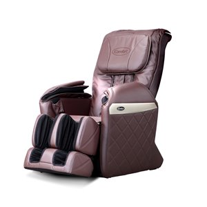 iComfort IC6600 Massage Recliner - Faux Leather - Brown