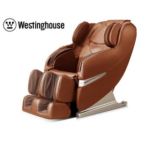 Westinghouse WES41-3000 Massage Recliner - Faux Leather - Caramel