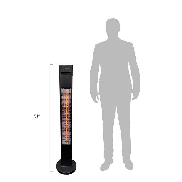 Westinghouse Freestanding Infrared Electric Patio Heater - 5,100 BTU - 51.2-in - Matte Black