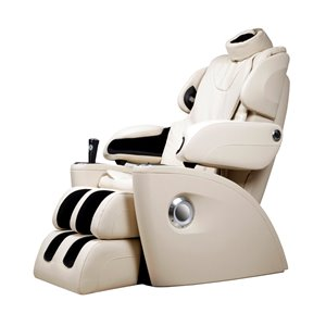 iComfort IC5500 Massage Recliner - Faux Leather - Ivory