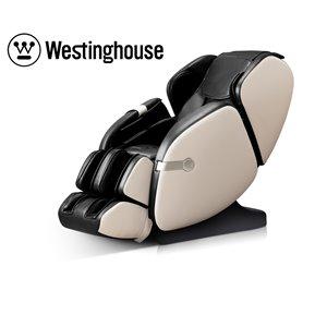 Fauteuil de massage Westinghouse WES41-680, similicuir, noir/beige