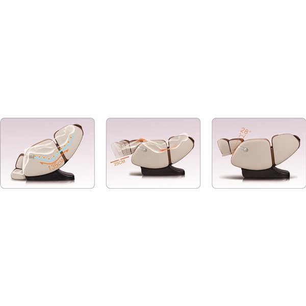 Westinghouse WES41-680 Massage Recliner - Faux Leather - Beige/Caramel