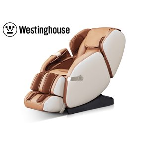 Westinghouse WES41-680 Massage Recliner - Faux Leather - Beige/Caramel