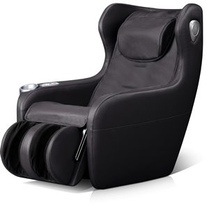 iComfort IC2000 Massage Recliner - Faux Leather - Black