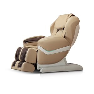 iComfort IC3800 Massage Recliner - Faux Leather - Beige