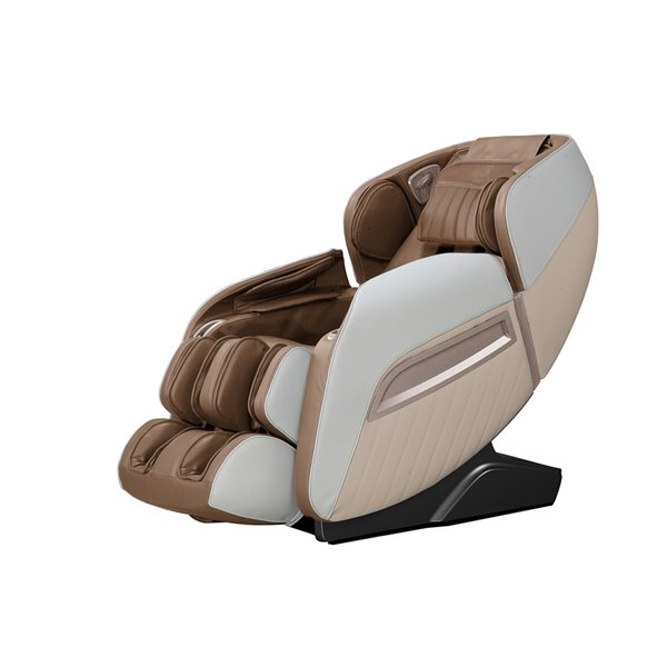 Fauteuil de massage iComfort IC7500, similicuir, brun/beige