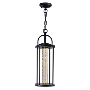 CWI Lighting Greenwood LED Outdoor Ceiling Light with Black finish