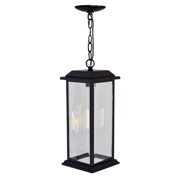 CWI Lighting Blackbridge Outdoor Ceiling Light - 1 Light - Black finish