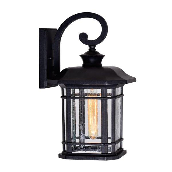 CWI Lighting Blackburn 1 Light Outdoor Wall Lantern Sconce - Black finish - 10-in x 9-in x 17-in