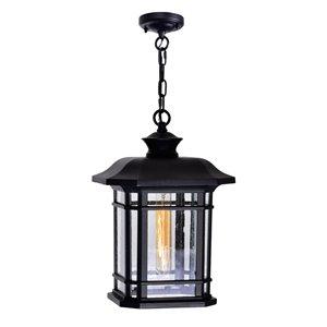 CWI Lighting Blackburn 1 Light Outdoor Ceiling Light with Black finish