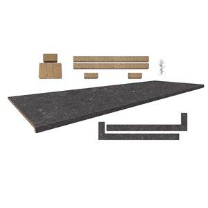 Comptoir Bélanger Laminés 25.5 po x 96 po, Profil 2700 avec accessoires, Upland Stone