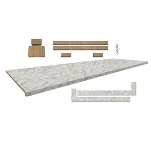 Belanger Laminates 8-pi Countertop 25.5-in x 96-in - Profile 2700 with Accessories - Faded Memories